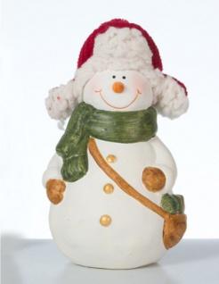Schneemann Deko Figur m. Mütze Weihnachtsdeko Weihnachts Skulptur Weihnachtsmann