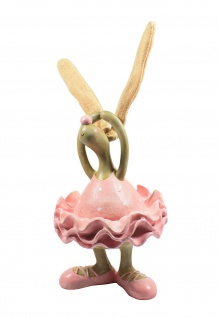 Deko Hase Hasen Frau Osterhase Oster Figur Ei Kaninchen Mann Skulptur Statue