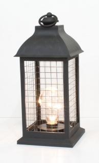 Laterne LED beleuchtet Windlicht Teelichthalter Kerzenhalter Deko Lampe Leuchter