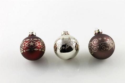 Christbaumkugeln 9 tlg Weihnachtskugeln Glas Baumschmuck Kugeln Weihnachtsdeko