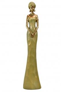 Deko Afrika Figur Afrikanische elegante Dame Frau Lady Skulptur Statue