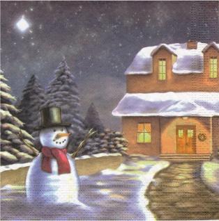 20 Servietten Schneemann Winterland Tischdeko Napkins Serviette Deko Weihnachten
