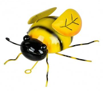 Wanddeko Biene Hummel Wandbild Metall Deko Tier Figur Wandschmuck Wand Hänger - Vorschau