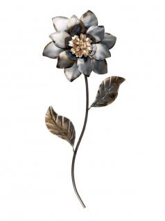 Wanddeko Wandbild Metall Deko Bild Artikel Blume Blüte Wandekoration Wandschmuck