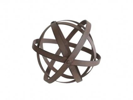 Deko Kugel Metall Rostlook Gartenkugel faltbar Deko Garten Figur Objekt Skulptur