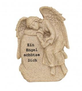 Grabschmuck Engel Grabdeko Gedenkstein Grab Deko Figur Skulptur Stein Vogel