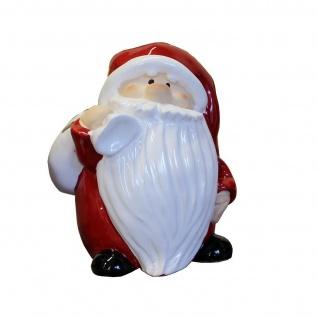 Weihnachtsmann Nikolaus Keramik Deko Figur Skulptur Statue Schneemann Engel