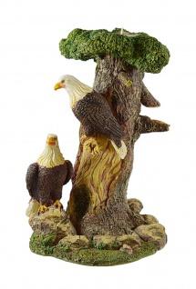 Teelichthalter Weißkopf Adler Vogel Seeadler Deko Garten Tier Figur Windlicht
