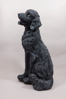 Deko Hund Golden Retriever Garten Tier Figur Skulptur Statue Hundefigur Wolf