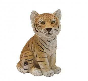 Tiger Baby Kind Katze Tigerfigur Skulptur Deko Afrika Tier Figur Statue Löwe