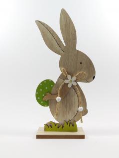 Osterhase Dekohase Hase Holz Oster Deko Garten Tier Figur Ei Skulptur Statue