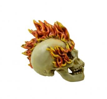 Gothic Deko Figur LED Totenkopf Schädel Sensemann Skull Reaper Skelett Skulptur