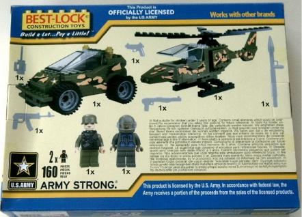 BEST-LOCK Bausteine Set U.S.Army mit Fahrzeug Hubschrauber Figuren Zubehör - Vorschau 2