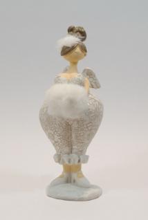 Engel Schutzengel Mollige Deko Figur Skulptur Dame Frau Stern Herz Plüsch Muff