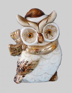 Eule Uhu Eulen Deko Garten Tier Vogel Figur Skulptur Gartenfigur Kauz Statue