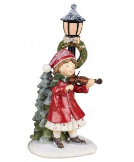 Winterkind Mädchen Geige Weihnachts Nostalgie Deko Kinder Figur Laterne Junge