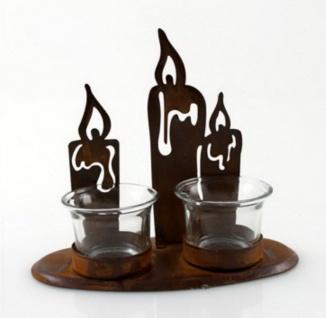Teelichthalter Kerzenhalter Metall Glas Deko Windlicht Leuchter Kerzenständer