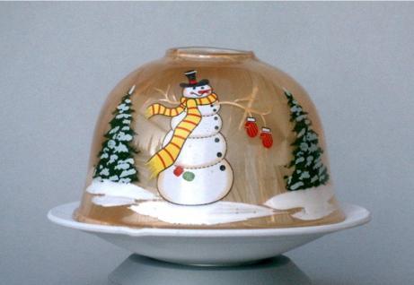 Dome Light Leuchter LED beleuchtet Deko Tisch Lampe Windlicht Kerzenhalter