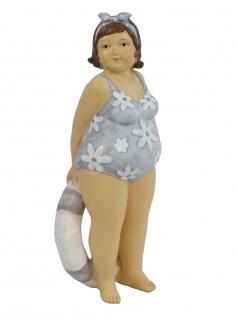 Frau im Badeanzug Mollige Dicke Dame Lady Rubens Deko Retro Figur Skulptur