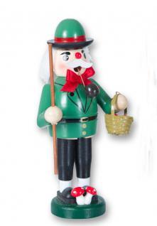 Räuchermännchen Pilzsammler Holz Räuchermann Räucherfigur Weihnachts Deko Figur