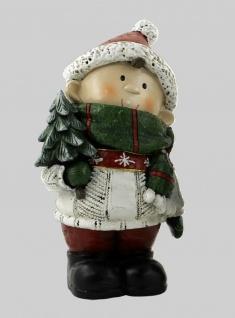 Winterkinder Winterkind Deko Junge Mädchen Kinder Weihnachts Figur Paket Tanne