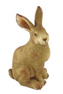 Deko Hase Garten Hasen Osterhase Oster Tier Figur Skulptur Ei Osterei Blume Korb