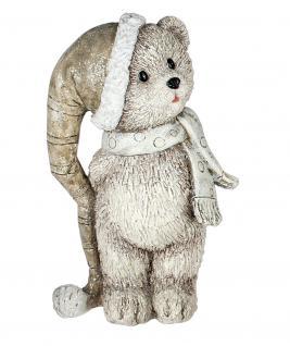 Bärchen mit Mütze Schal Bär Teddybär Teddy Deko Tier Figur Weihnachts Artikel