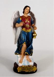 Heiliger Erzengel Sealtiel Deko Figur Skulptur Statue Gefäß Drachen Kruzifix