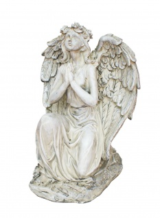 Deko Engel betend Figur Schutzengel Grabdeko Skulptur Grabschmuck Statue Objekt