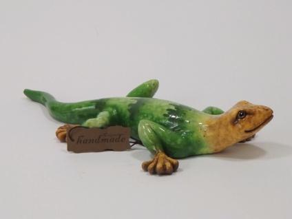 Gecko Eidechse Lurch Echse Drache Salamander Deko Tier Figur Skulptur Leguan - Vorschau 3
