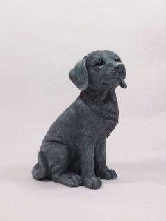 Deko Hund Garten Tier Figur Golden Retriever Skulptur Statue Wildhund Wolf Welpe