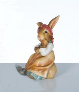 Osterhase Dekohase Hase Oster Deko Tier Figur Osterei Ei Korb Skulptur Statue - Vorschau