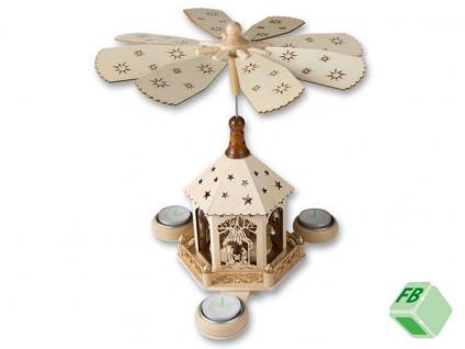 Pyramide Weihnachtspyramide aus Holz für 3 Teelichter Weihnachts Deko Figuren