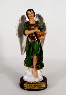Heiliger Erzengel Barachiel Deko Figur Skulptur Statue Brotkorb Drachen Kruzifix