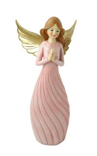 Engel Deko Schutzengel betend Weihnachtsengel Skulptur Figur Elfe Fee Herz Stern