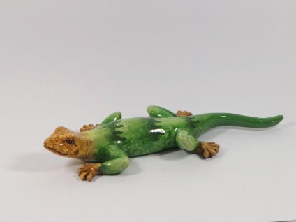Gecko Eidechse Lurch Echse Drache Salamander Deko Tier Figur Skulptur Leguan