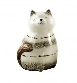 Deko Katze Katzen Tier Garten Figur Skulptur Keramik Kater Statue Katzenfigur - Vorschau