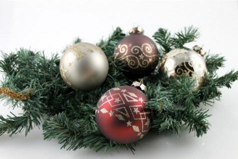 Christbaumkugeln 4 tlg Weihnachtskugeln Glas Baumschmuck Kugeln Weihnachtsdeko
