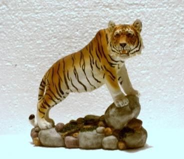 Tiger Katze Tigerfigur Tierfigur Skulptur Deko Tier Figur Statue abstrakt Löwe