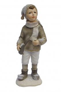 Winterkind Knabe Junge Weihnachts Nostalgie Deko Kinder Figur Mädchen Dame Frau