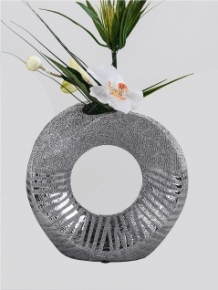 Deko Objekt Vase Tischvase Blumenvase Keramik Artikel abstrakte Skulptur Figur