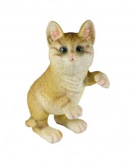 Katze Deko Garten Tier Katzen Figur Skulptur Paar Kind Baby Dekofigur Statue