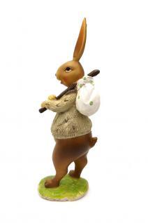Osterhase Dekohase Hase Oster Deko Tier Figur Osterei Ei Korb Skulptur Statue - Vorschau 4