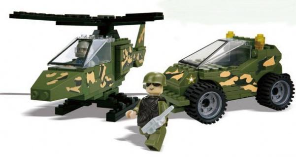 BEST-LOCK Bausteine Set U.S.Army mit Fahrzeug Hubschrauber Figuren Zubehör - Vorschau 3