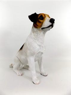 Terrier Jack Russel Hund Deko Garten Tier Figur Skulptur Statue Wildhund
