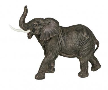 Elefant Elefanten Skulptur Deko Artikel Garten Wild Tier Figur Afrika Statue