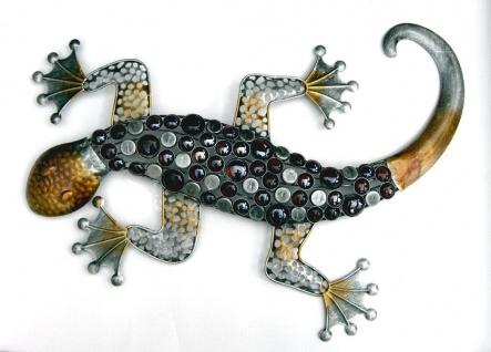 Gecko Eidechse Salamander Deko Figur Echse Drache Skulptur Wanddeko Wandbild
