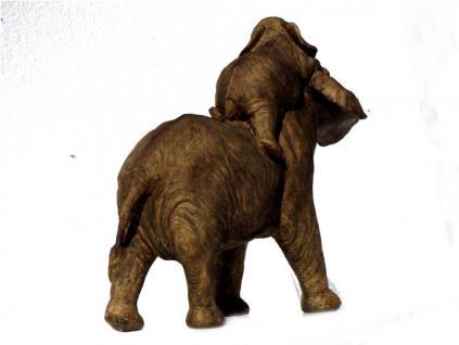 Elefant Baby Tierfigur Skulptur Elefanten Deko Garten Tier Figur Afrika Statue - Vorschau 3