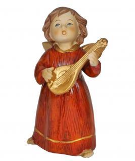 Engel Schutzengel Mandoline Skulptur Weihnachtsengel Deko Artikel Figur Statue