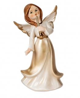 Engel Dekoengel Schutzengel Engelfigur Skulptur Weihnachts Deko Figur Trompete - Vorschau